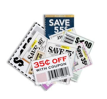 Coupons XXXL Isolated