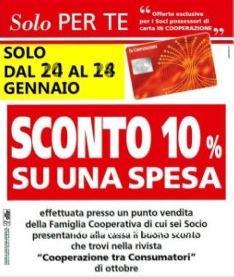 Buono sconto spesa Coop Trentino e Alto Garda