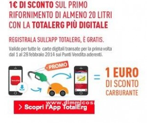 Sconto carburante TotalErg