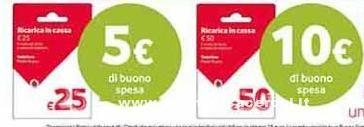 Vodafone regala buoni spesa Pam