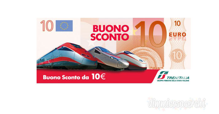 Buono sconto 10 Euro Trenitalia