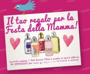 Gel doccia L'Occitane omaggio, Festa della Mamma