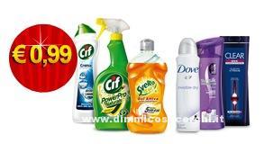 Offerta Unilever Shop 10 detersivi a 0,99 euro