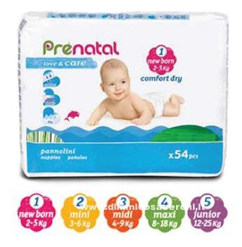 Prenatal pannolini pampers