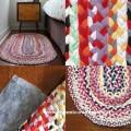 tappeto con magliette di cotone