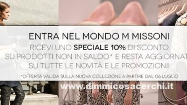 Con Vanity Fair per te -50 sullo shop online M Missoni