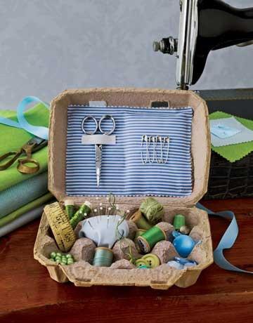 riciclare-scatole-uova-cucito
