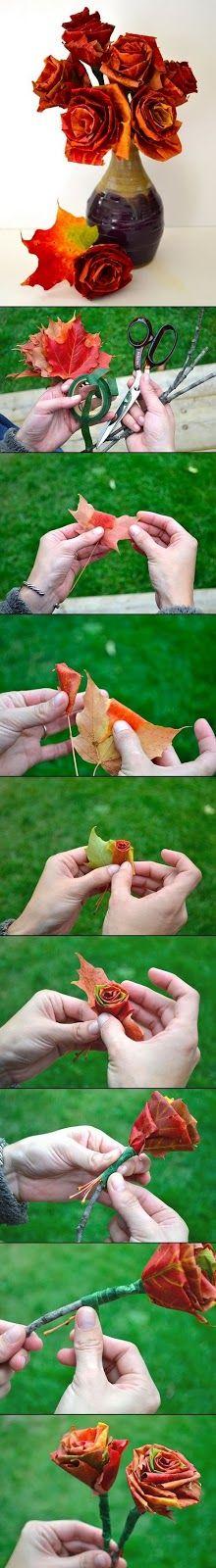 Decorazioni con foglie autunnali