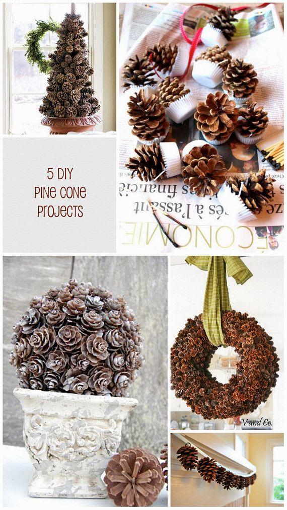 Decorazioni da realizzare con le pigne - Idee Natale 2014