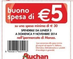 Buoni spesa Auchan da ritagliare sul volantino