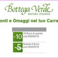 Bottega verde sconto 15 euro per tutti