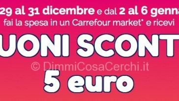 Carrefour market buoni sconto per le feste