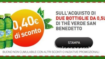 Registrati e stampa i coupon San Benedetto