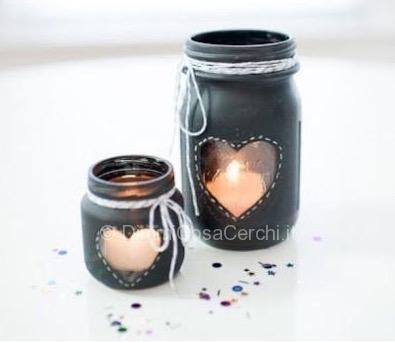 San Valentino porta candela da un vasetto della conserva