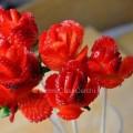 Creare una rosa con le fragole idea per San Valentino
