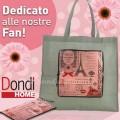 Borsa shopper omaggio da Dondi per la Festa della Donna