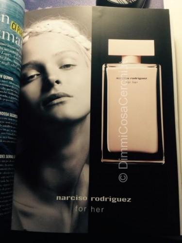 Rivista Cosmopolitan con campione omaggio Narciso Rodriguez