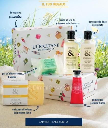 Box fiorita omaggio da L'Occitane