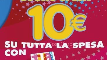Auchan, buono spesa 10 euro