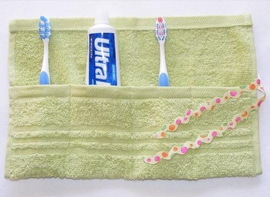 Porta spazzolini in stoffa fai da te