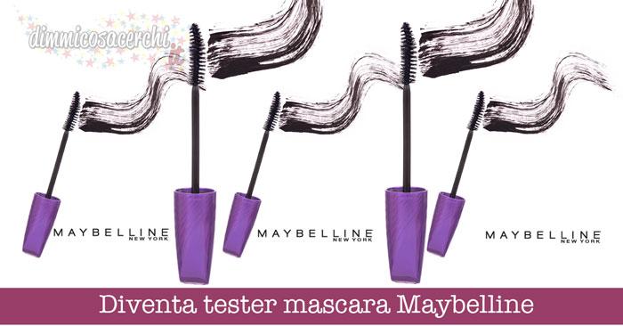 Diventa tester mascara Maybelline
