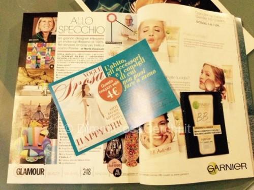 Rivista Glamour di Maggio con campioncino e coupon omaggio