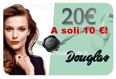 Carta regalo Douglas sconto del 50%