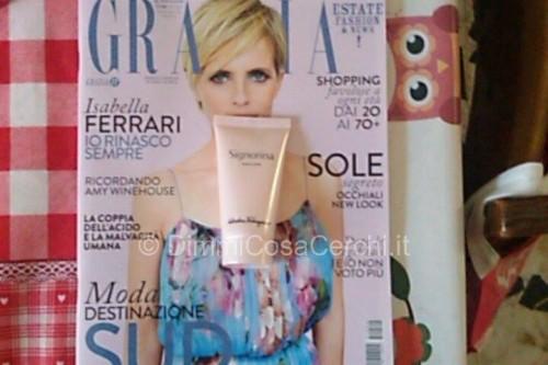 Crema Salvatore Ferragamo allegata alla rivista Grazia