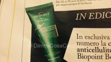 Allegato rivista Grazia, anticellulite Biopoint