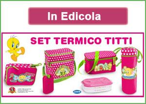 Set termico Titti allegato a Donna Moderna