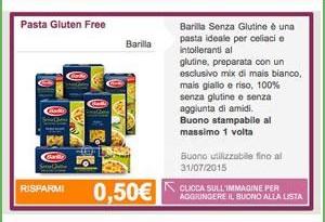 Coupon Barilla senza glutine su DimmiCosaCerchi