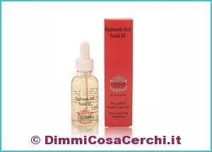 Olio per viso acido ialuronico