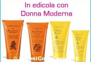 Donna moderna con Shampoo e Bagnodoccia Erbolario