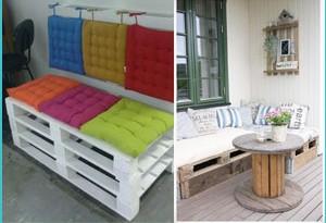 Idee per realizzare un divano con i pallet
