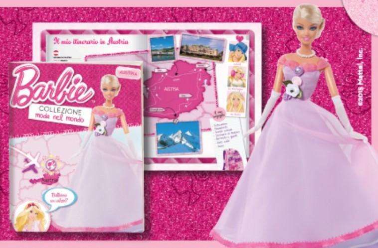 Collezione Barbie moda nel mondo