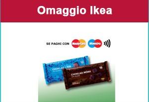 Ikea regala barretta di cioccolato se paghi con Mastercard