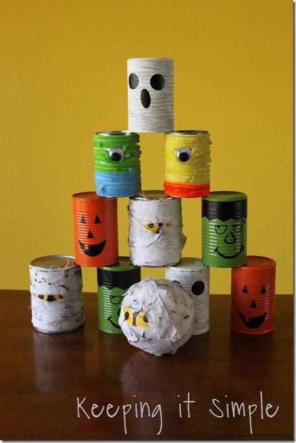 Come creare delle decorazioni di Halloween con lattine e scatolette