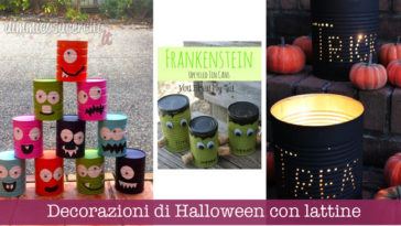 Decorazioni di Halloween con lattine