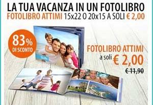 Fotolibro delle vacanze a solo 2 euro