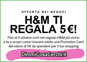 H&M ti regala un buono spesa da 5 euro