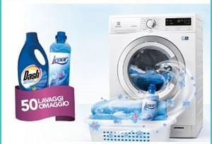 Lavatrice Electrolux ti regala 50 lavaggi di Dash e Lenor