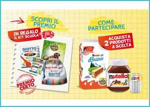 Premio certo Kinder e Ferrero - Kit scuola Giotto