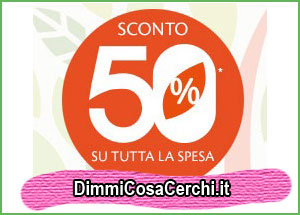 promozione bottega verde sconto 50%