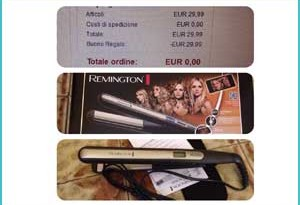 Piastra Remington gratis su Amazon