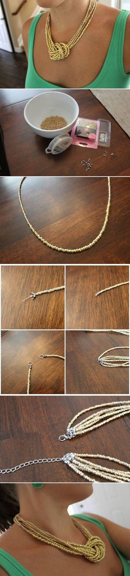 realizzare una collana lunga con nodo