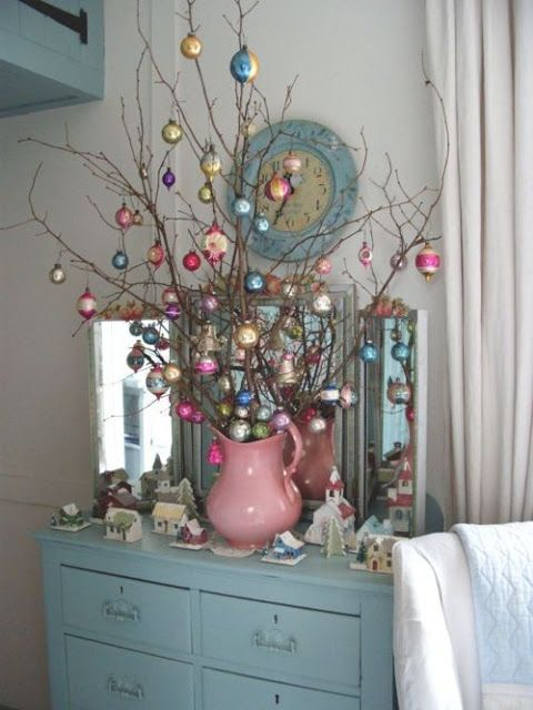 Alberi di Natale con rametto di legno