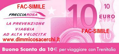 Buono sconto Trenitalia da 10€