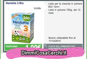 Buoni sconto Unilife Neolatte 3 Bio