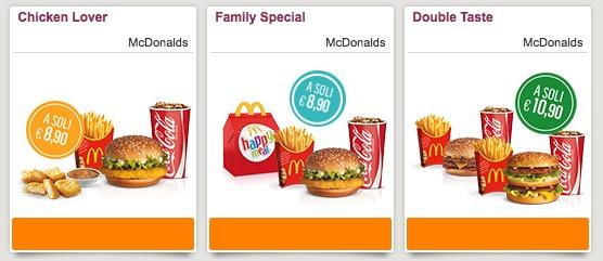 Buoni sconto McDonald