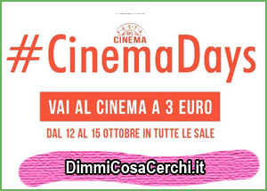 Ritornano i #cinemadays